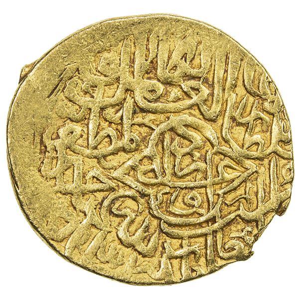 SAFAVID: Tahmasp I, 1524-1576, AV mithqal (4.66g), Urdu, ND. VF