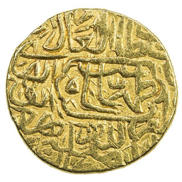 SAFAVID: Tahmasp I, 1524-1576, AV mithqal (4.59g), MM, ND. VF