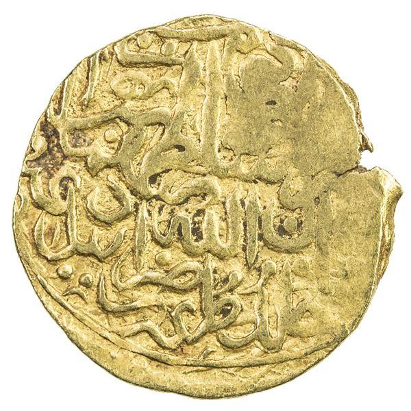 SAFAVID: Tahmasp I, 1524-1576, AV 1/2 mithqal (2.29g), Ardabil, ND. VF