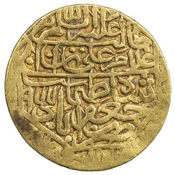 SAFAVID: Tahmasp I, 1524-1576, AV 1/2 mithqal (2.32g), Ja'farabad, AH977. VF