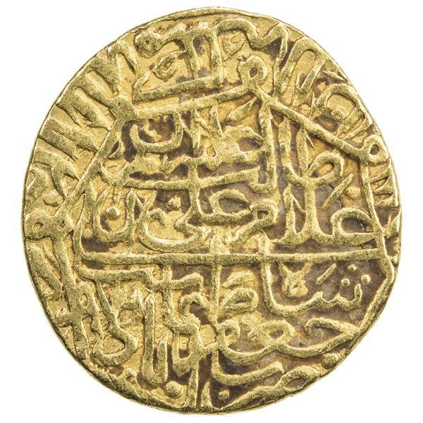 SAFAVID: Tahmasp I, 1524-1576, AV 1/2 mithqal (2.31g), Ja'farabad, AH979. VF