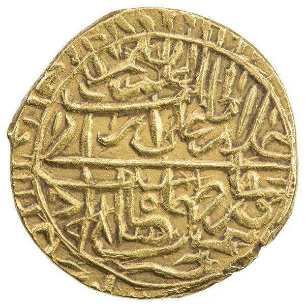 SAFAVID: Tahmasp I, 1524-1576, AV 1/2 mithqal (2.24g), Nimruz, AH983. EF