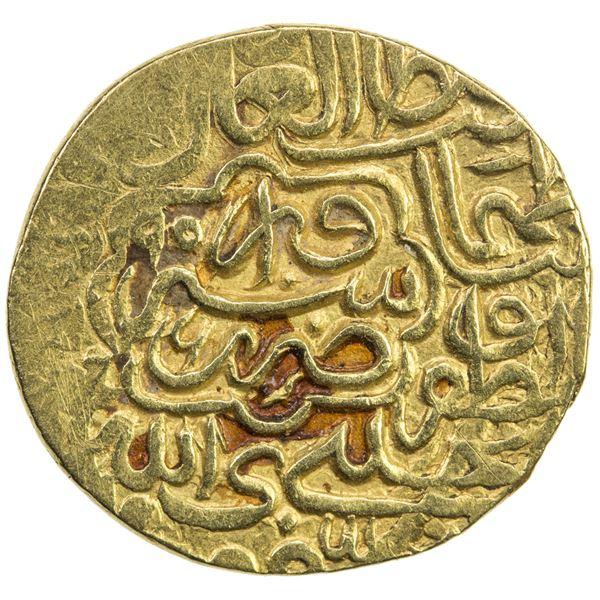 SAFAVID: Tahmasp I, 1524-1576, AV 1/2 mithqal (2.29g), Sabzawar, AH956. VF