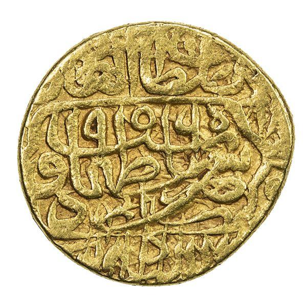 SAFAVID: Tahmasp I, 1524-1576, AV 1/2 mithqal (2.32g), Urdu, AH956. VF