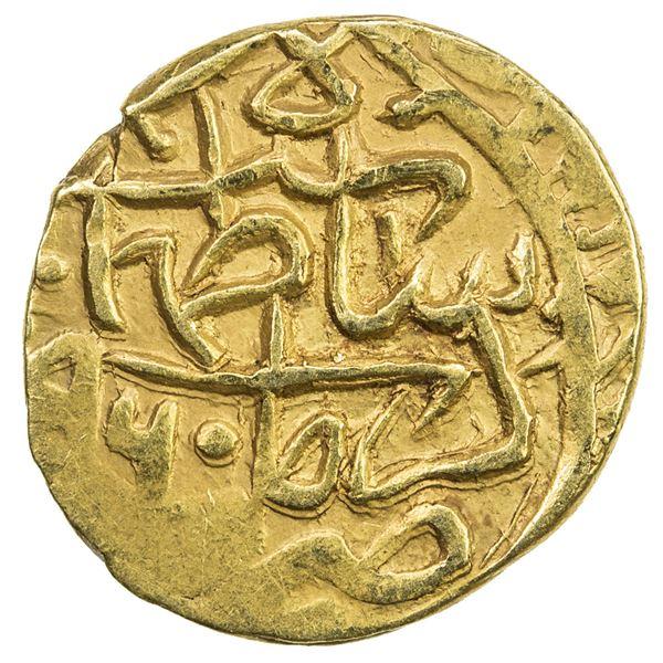 SAFAVID: Tahmasp I, 1524-1576, AV 1/4 mithqal (1.14g), Kirman, AH960. VF