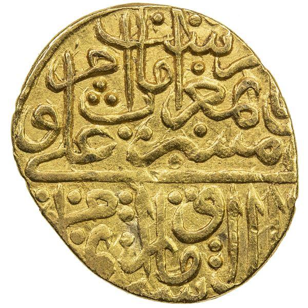SAFAVID: Isma'il II, 1576-1578, AV 1/2 mithqal (2.32g), Qazwin, AH98(4). VF