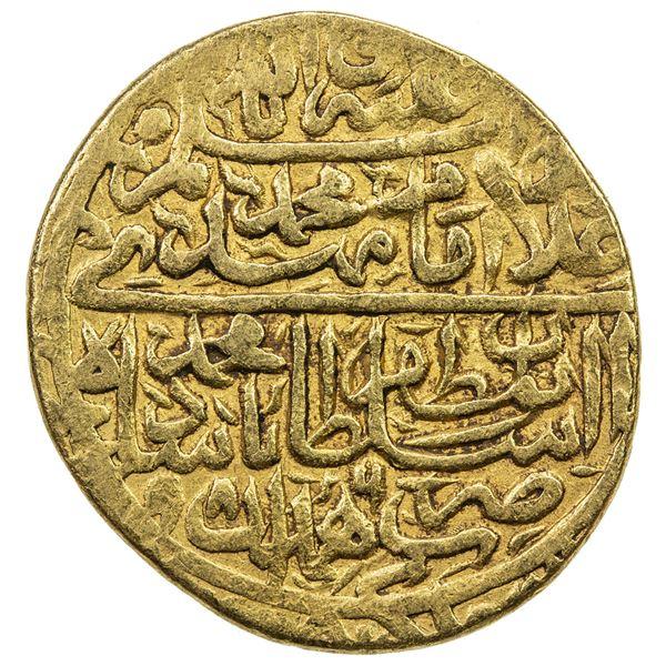 SAFAVID: Muhammad Khudabandah, 1578-1588, AV mithqal (4.63g), Hamadan, AH986. VF