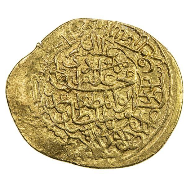 SAFAVID: Muhammad Khudabandah, 1578-1588, AV mithqal (4.65g), Isfahan, AH985. VF-EF
