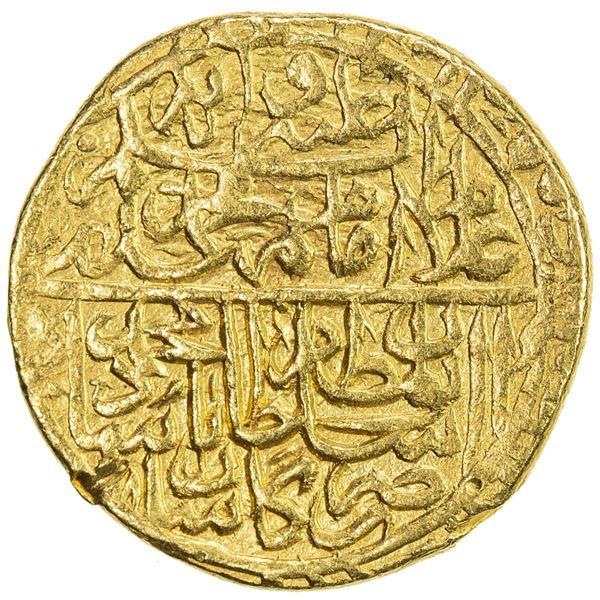 SAFAVID: Muhammad Khudabandah, 1578-1588, AV mithqal (4.67g), Kashan, AH985. VF