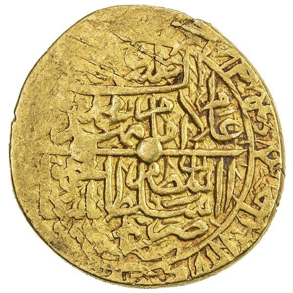 SAFAVID: Muhammad Khudabandah, 1578-1588, AV mithqal (4.62g), Shiraz, AH986. VF