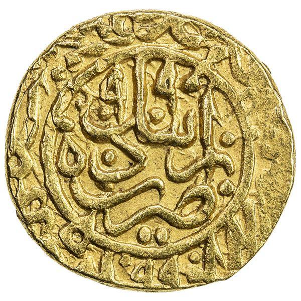 SAFAVID: Muhammad Khudabandah, 1578-1588, AV mithqal (4.56g), Ardabil, AH990. EF