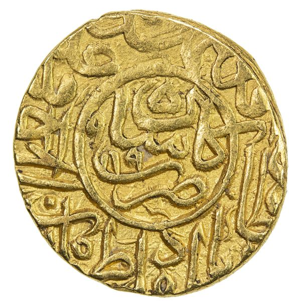 SAFAVID: Muhammad Khudabandah, 1578-1588, AV mithqal (4.64g), Kashan, AH989. EF