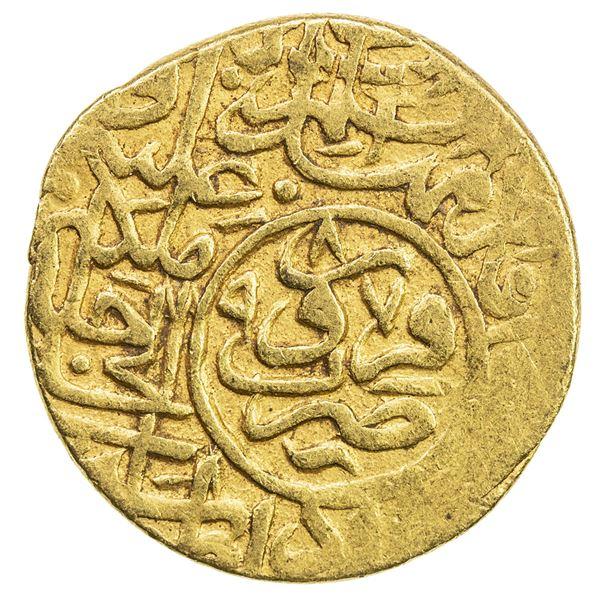 SAFAVID: Muhammad Khudabandah, 1578-1588, AV mithqal (4.56g), Qazwin, AH987. VF