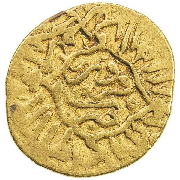 SAFAVID: Muhammad Khudabandah, 1578-1588, AV mithqal (4.62g), Qazwin, AH989. VF