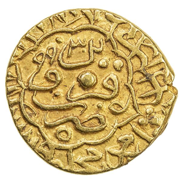 SAFAVID: Muhammad Khudabandah, 1578-1588, AV mithqal (4.61g), Qazwin, AH993. EF