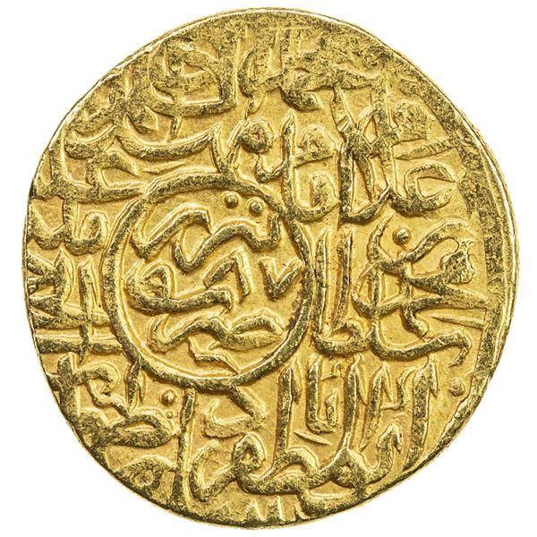 SAFAVID: Muhammad Khudabandah, 1578-1588, AV mithqal (4.59g), Tabriz, AH987. VF-EF