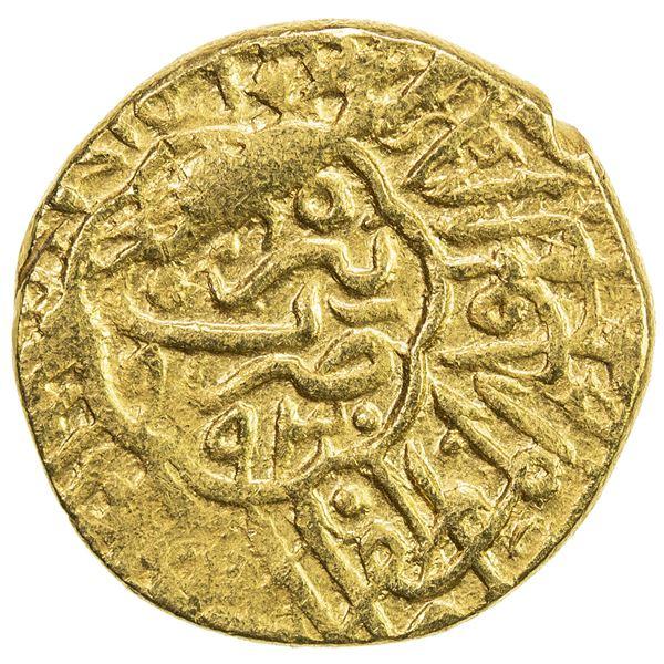 SAFAVID: Muhammad Khudabandah, 1578-1588, AV mithqal (4.64g), Tabriz, AH993. VF