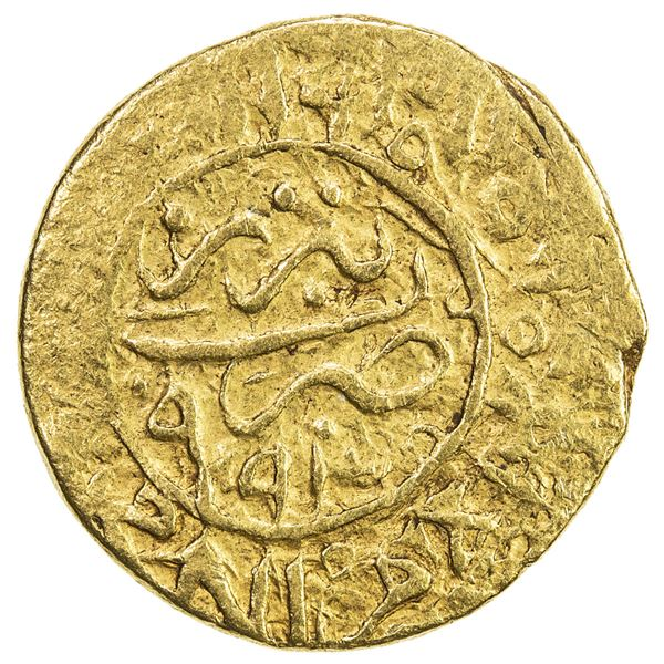 SAFAVID: Muhammad Khudabandah, 1578-1588, AV mithqal (4.61g), Tabriz, AH994. VF