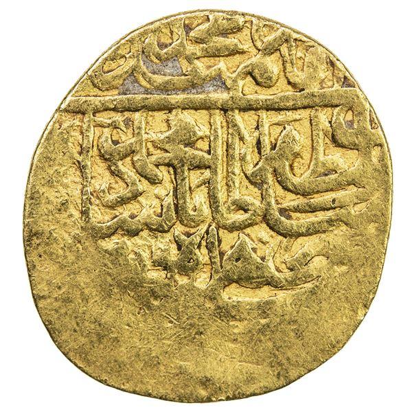 SAFAVID: Muhammad Khudabandah, 1578-1588, AV 1/2 mithqal (2.33g), Herat, AH986. VF