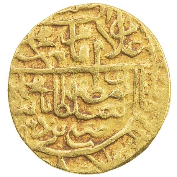 SAFAVID: Muhammad Khudabandah, 1578-1588, AV 1/2 mithqal (2.30g), Yazd, AH(9)86. VF
