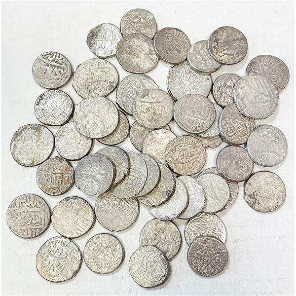 SAFAVID: 'Abbas I, 1588-1629, LOT of 49 silver abbasis