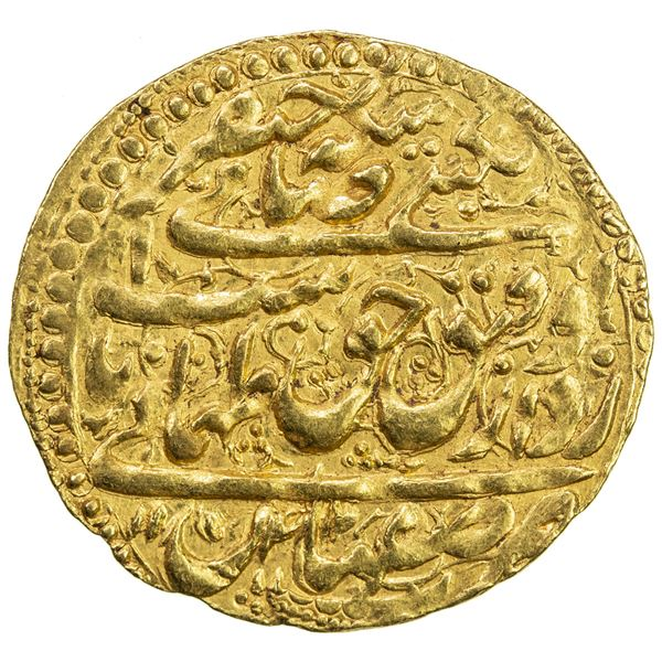 SAFAVID: Tahmasp II, 1722-1732, AV ashrafi (3.47g), Isfahan, AH1142. EF