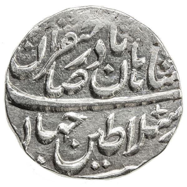 AFSHARID: Nadir Shah, 1735-1747, AR rupi (11.37g), Peshawar, AH1160. EF
