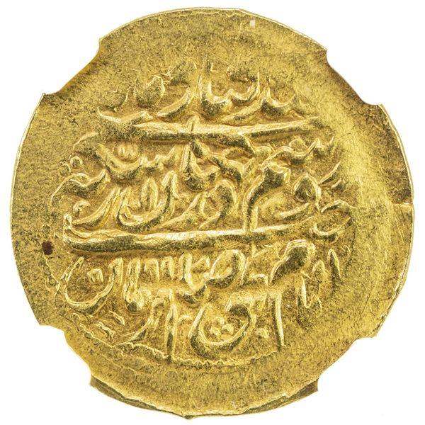 ZAND: 'Ali Murad Khan, 1781-1785, AV 1/4 mohur (2.70g), Yazd, AH1197. NGC MS62