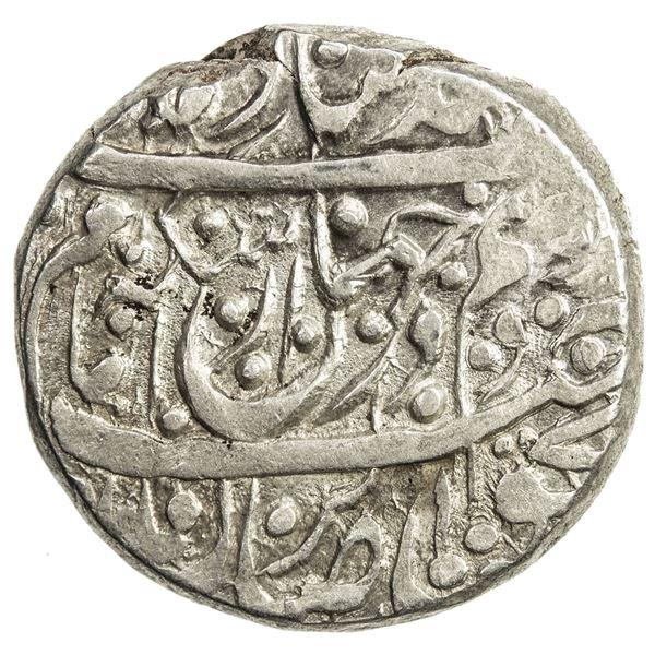 QAJAR: Agha Muhammad Khan, 1779-1797, AR rupi (11.42g), Kashan, AH1206. EF
