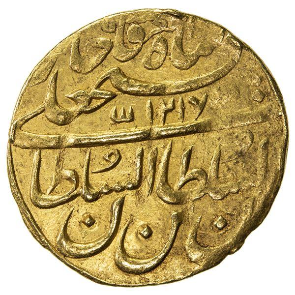 QAJAR: Fath 'Ali Shah, 1797-1834, AV toman (6.09g), Tabriz, AH1217//1217. VF-EF