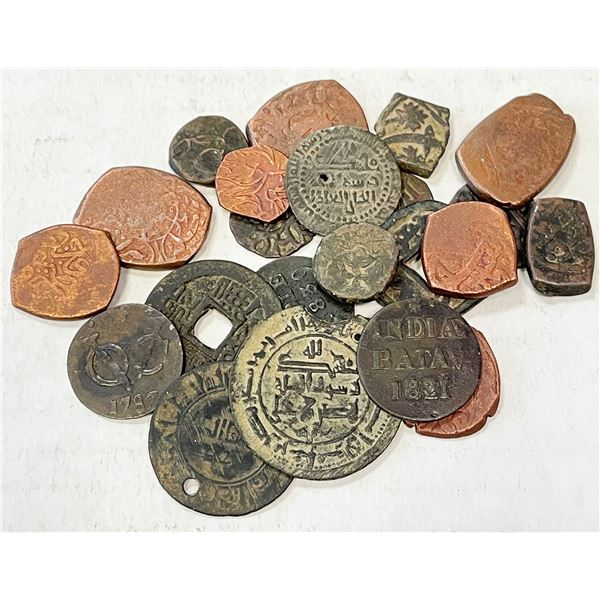 LATER CENTRAL ASIA: LOT of 23 copper coins
