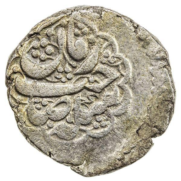 BARAKZAY: Uncertain Ruler, 1825, BI rupee (9.95g), Ahmadshahi, AH1241. VF-EF