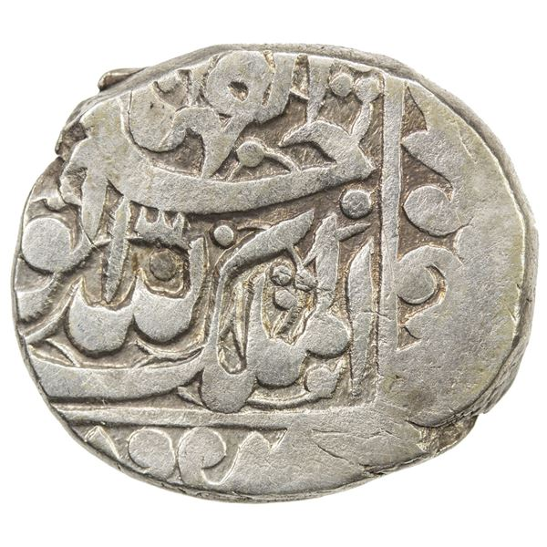 DURRANI: Safdar Jang, 1842-1843, AR rupee (8.99g), Ahmadshahi (=Qandahar), AH1259. VF-EF