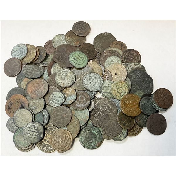 MEDIEVAL ISLAMIC: LOT of 127 copper fulus