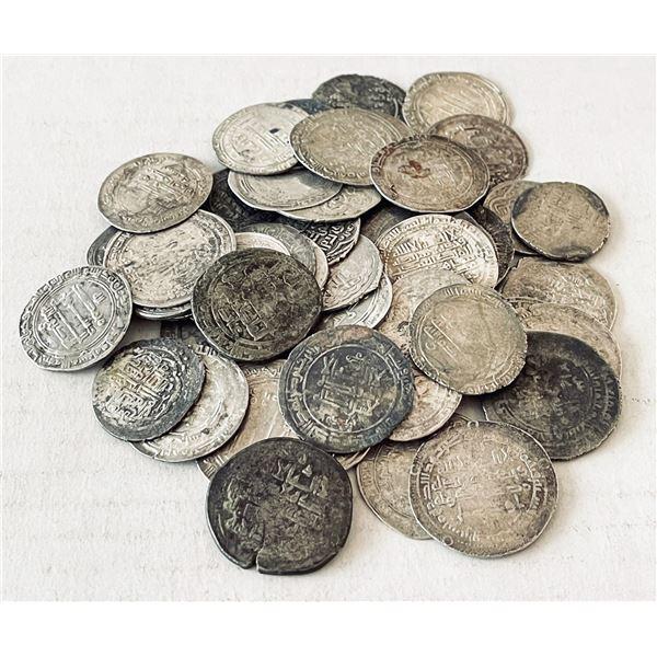 MEDIEVAL ISLAMIC: LOT of 49 silver dirhams
