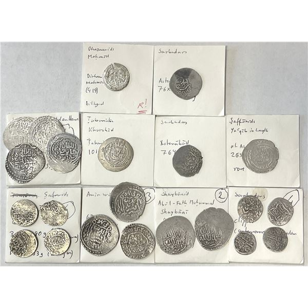 MEDIEVAL ISLAMIC: LOT of 22 silver coins