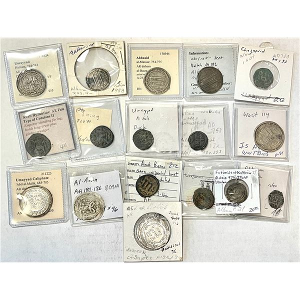 MEDIEVAL ISLAMIC: LOT of 11 silver & 6 copper coins