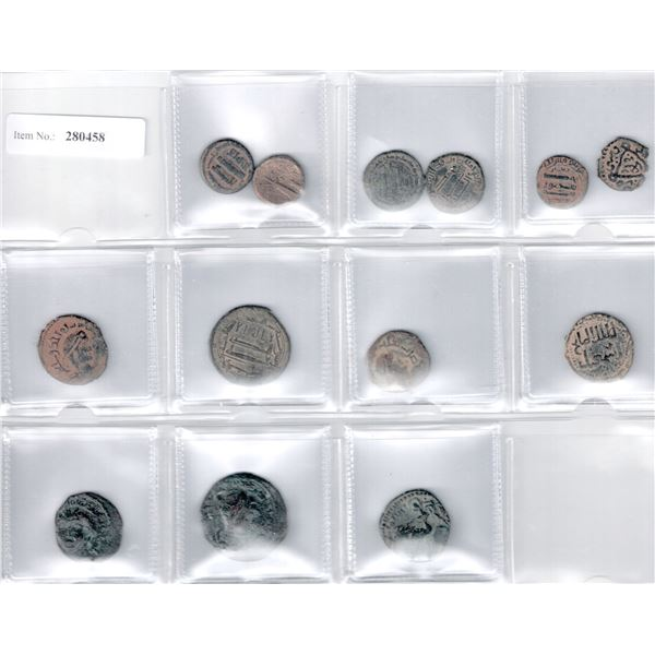 MEDIEVAL ISLAMIC: LOT of 13 copper coins