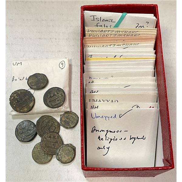 MEDIEVAL ISLAMIC: LOT of 37 copper coins