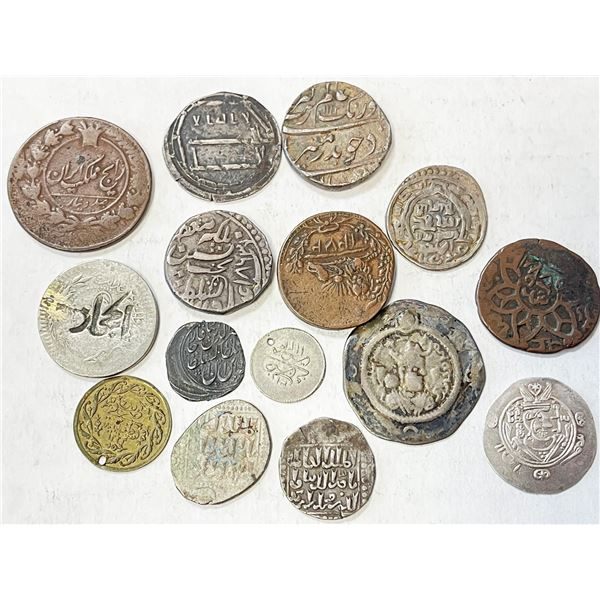 MEDIEVAL ISLAMIC: LOT of 9 silver and 6 other coins