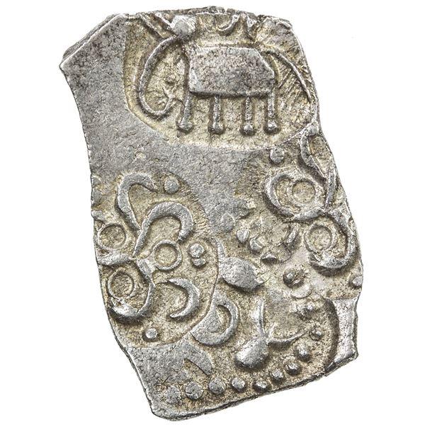 VIDARBHA: Punchmarked, ca. 500-400 BC, AR rectangular 1/2 karshapana (1.74g). AU