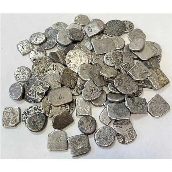 ANCIENT INDIA: LOT of 97 karshapana punchmarked silvers