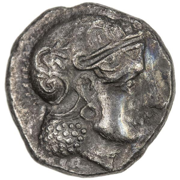 INDO-GREEK: Sophytes, ca. 270-250 BC, AR drachm (2.49g). VF