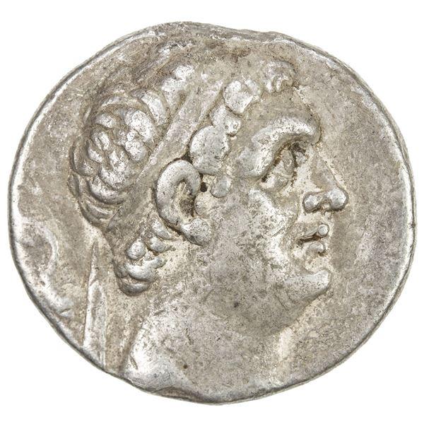INDO-GREEK: Euthydemos I, ca. 230-200 BC, AR tetradrachm (16.37g). F-VF