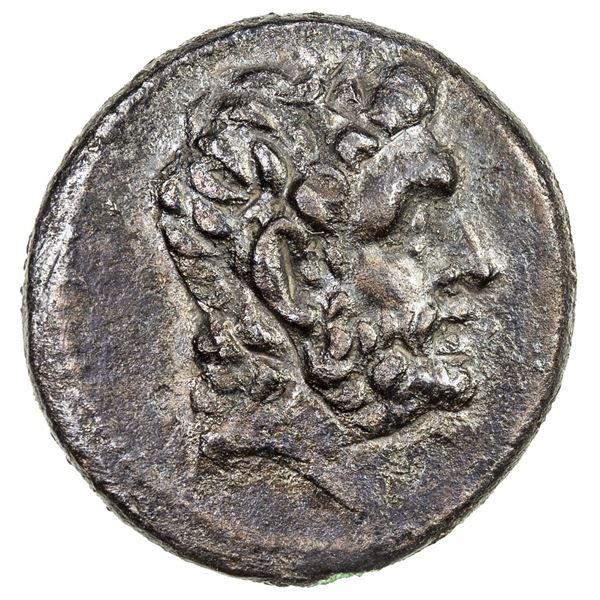 INDO-GREEK: Euthydemos I, ca. 230-200 BC, AE 17 (3.55g), Bop-23B, choice VF-EF