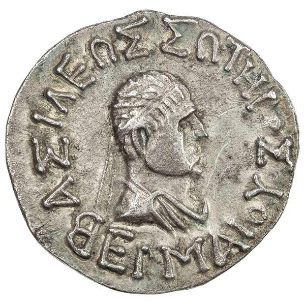INDO-GREEK: Hermaios, ca. 90-70 BC, AR tetradrachm (9.03g). EF