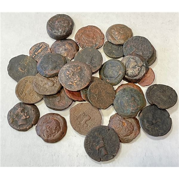 INDO-GREEK: LOT of 32 coppers, mostly Euthydemos