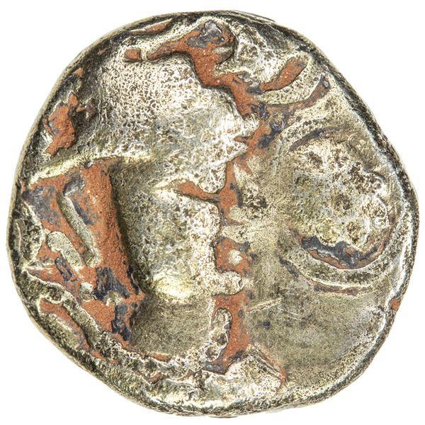 INDO-SASANIAN: Rana Datasatya, ca. 5th/6th century, debased AV dinar (6.84g). F