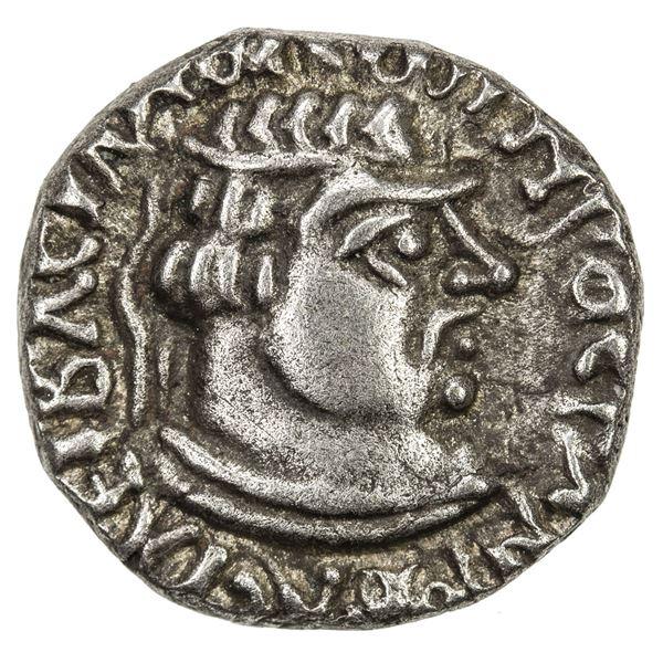 INDO-SCYTHIAN: Rujuvula, ca. 10 BC to 10 AD, AR drachm (2.30g). VF-EF