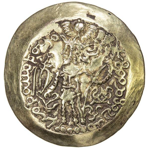 KUSHANO-SASANIAN: Kidarite, late 4th / early 5th century, scyphate AV dinar (7.16g). VF-EF